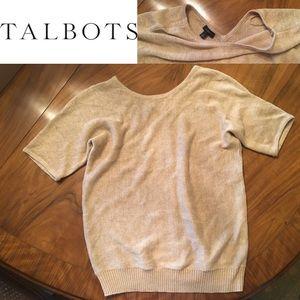 Talbots Short-Sleeve Linen Sweater